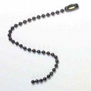 Ketting met slotje 2,4 mm, Zwart